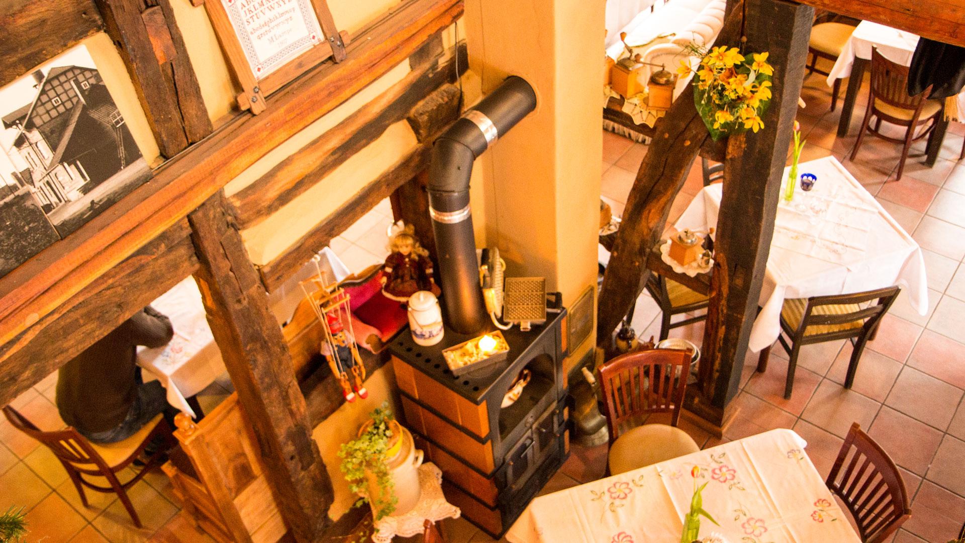 Hof-Café Blick von der Galerie